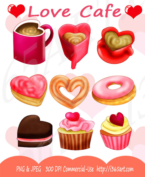 Love Cafe Valentine S Day Clipart Pack Coffee Pink Chocolate