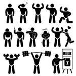Man And Woman Of Fitness Silhouette Character Stock Vector   Clipart