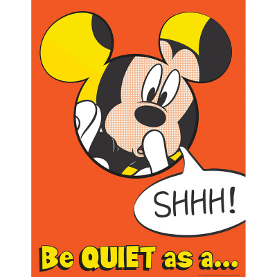 Mickey Quiet As A Mouse Poster   Eureka School