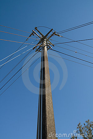 Power And Telephone Pole Intersection Stock Image   Image  5057391