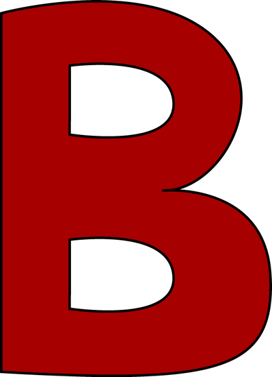 Red Letter B Clip Art Image   Large Red Capital Letter B