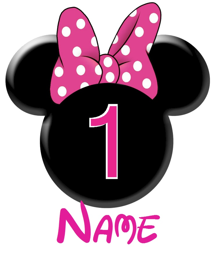Minnie Mouse Number 1 Clipart - Clipart Kid