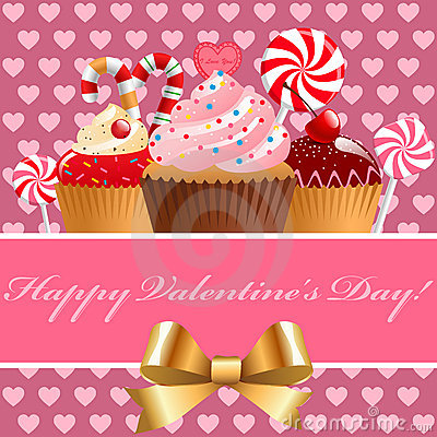 Valentine S Day Pastry And Sweets  Vector Illustration