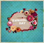 Valentine S Day Vintage Frame For Your Text Decorated With Sweets