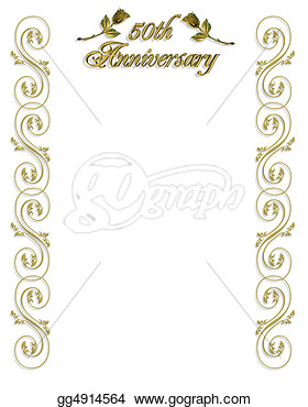 50th Wedding Anniversary Invitation  Stock Art Illustrations Gg4914564