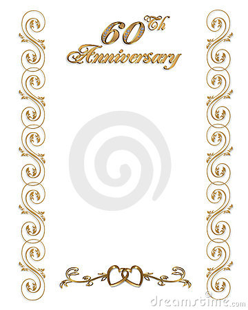 60th Anniversary Invitation Border  Click Image To Zoom