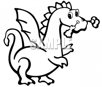 Animal Clipart Net Black And White Clipart Picture Of A Cute Dragon