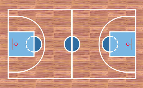 Basketball Court Graphic Illustration Art Prints And Posters By