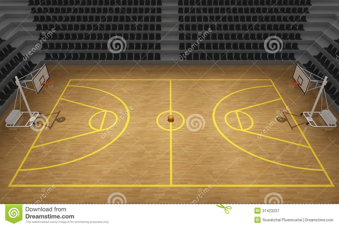 Basketball Stadiumbasketball Court 3d Render
