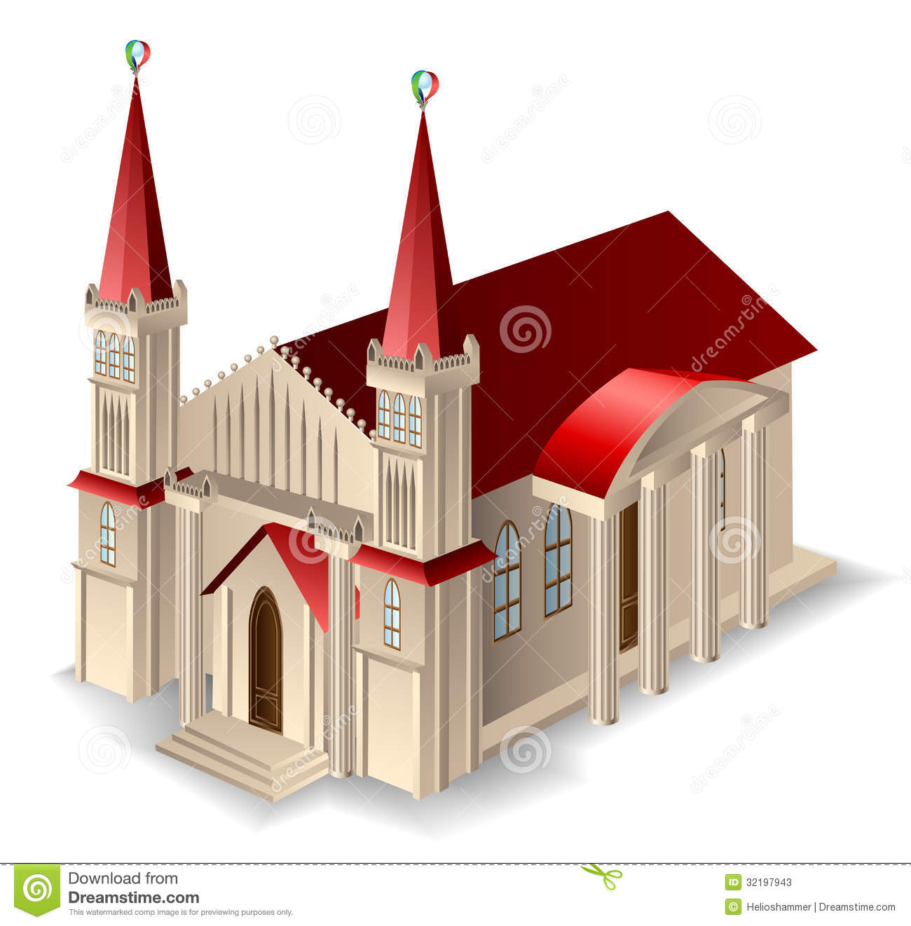 Church Building Clipart Old Church Building With