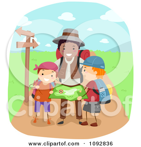 family going on a hike clipart clipart kid