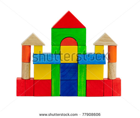 Colorful Toy Blocks Children Enjoy To Build And Creates Themselves To