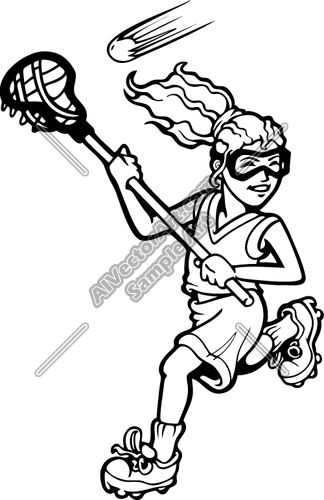 Girls Lacrosse Clipart Clipart Suggest
