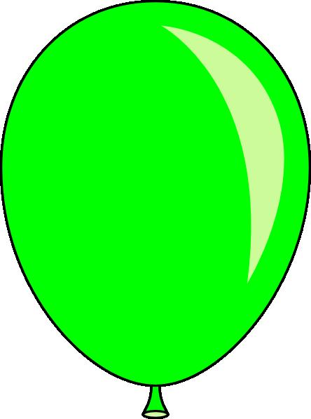 Birthday Green Ballons Clipart - Clipart Kid