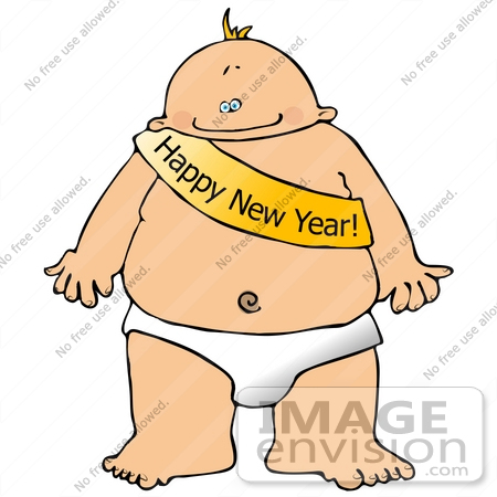 New Year S Baby Clipart    20052 By Djart   Royalty Free Stock