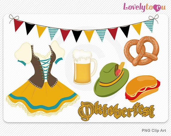 Clip Art Oktoberfest Clipart oktoberfest border clipart kid beer pretzel frankfurter dress digital png clip