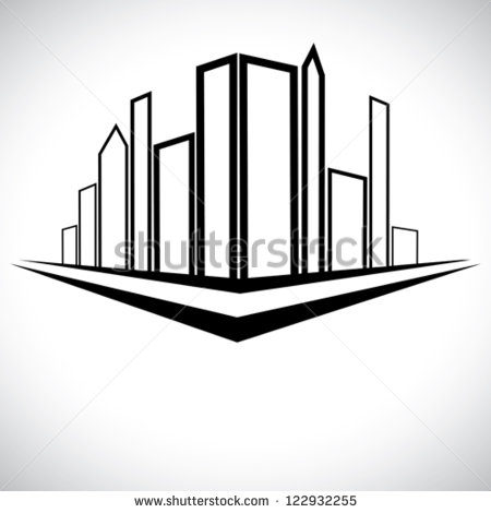 Towers And Street Stock Vector Illustration 122932255   Shutterstock