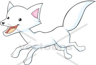 Arctic Fox With A Big Smile   Animals   Buy Clip Art   Buy