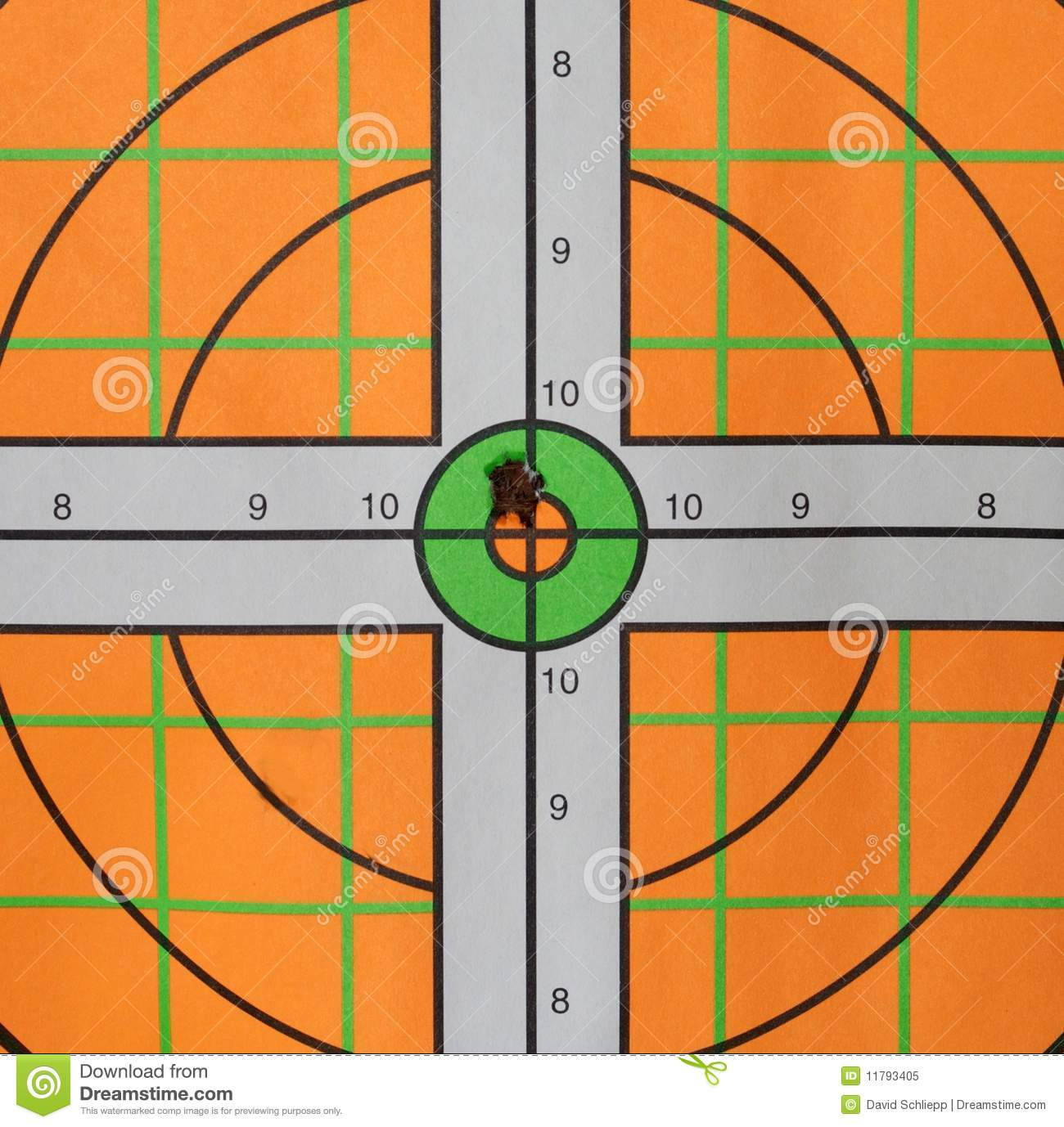 Bullseye Bullet Hole Royalty Free Stock Photo   Image  11793405