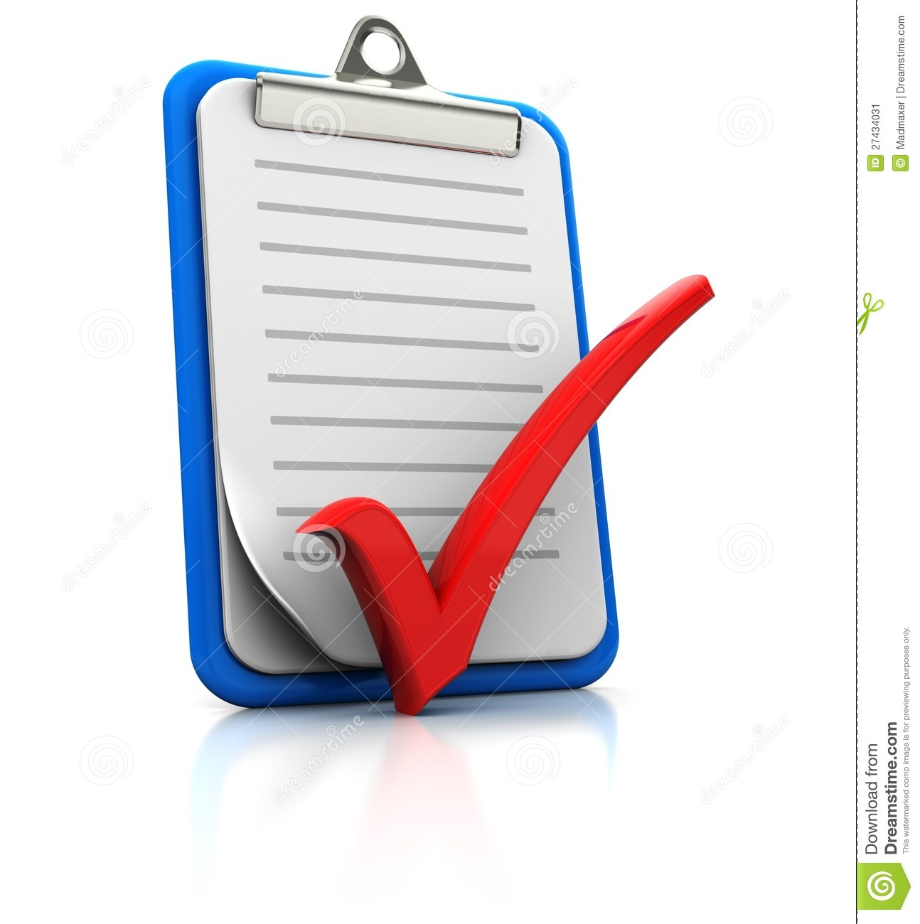 Checkmark Board Clipart Clipboard With Checkmark On