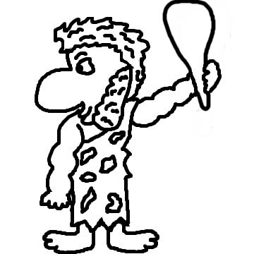 City Caveman Coloring Pages   Other Cave City School Coloring Pages