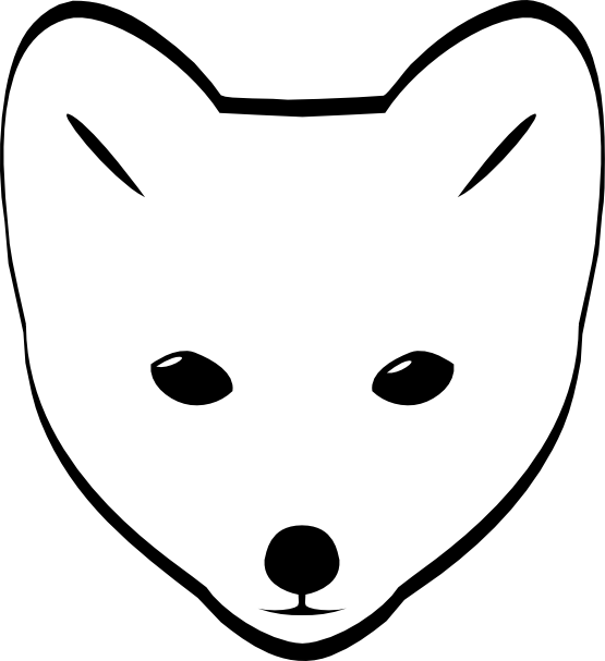 Clipartist Net   Clip Art   Arctic Fox Head Black White Line Art Svg