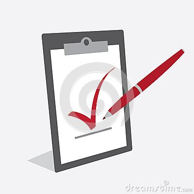 Clipboard Check Mark Pen Stock Vector   Image  43685864