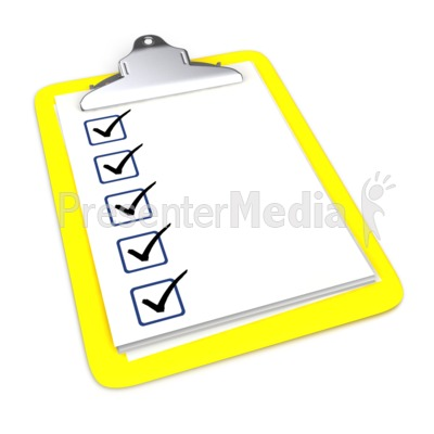 Clipboard With Five Checkmarks   Signs And Symbols   Great Clipart For