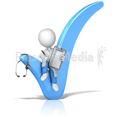 Doctor Sitting In Check Mark   Presentation Clipart   Great Clipart