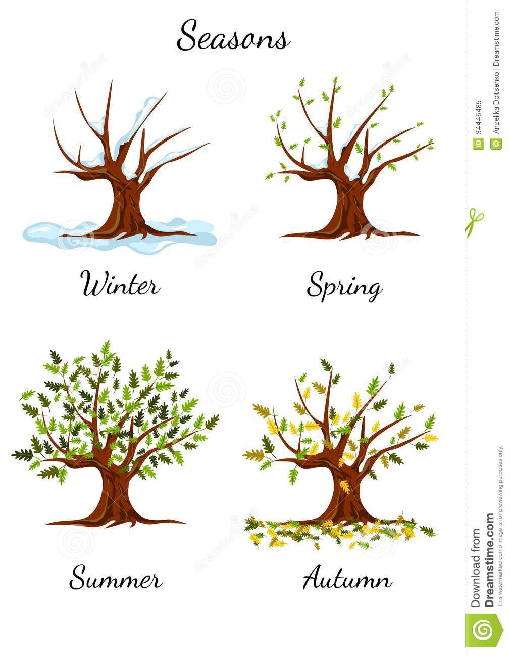 Seasons Black And White Clipart - Clipart Suggest