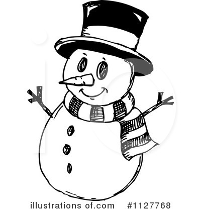 Free Black And White Snowman Clipart   Mup Rijeka