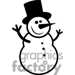 Free Snowman Clipart Black And White   Clipart Panda   Free Clipart