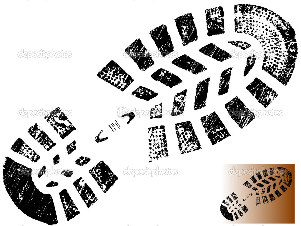 Military boot print clip art