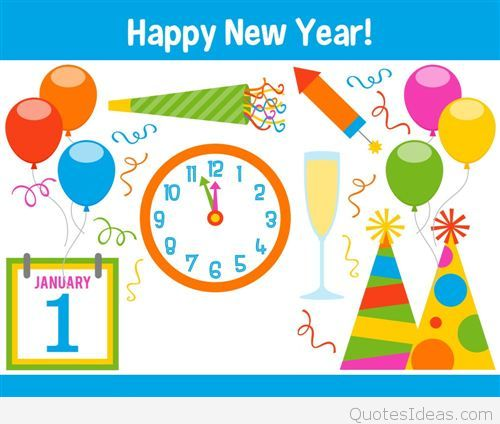 Happy New Year 2015 Animated Clipart