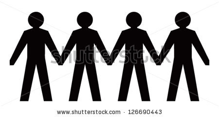 People Holding Hands Clipart Stock Vector People Figures Holding Hands