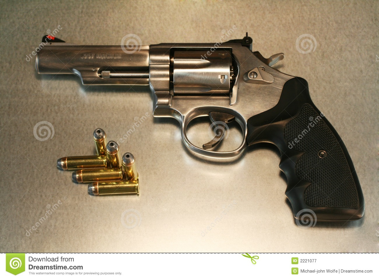 Revolver On Metal Royalty Free Stock Photography   Image  2221077