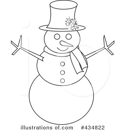 Royalty Free  Rf  Snowman Clipart Illustration By Pams Clipart   Stock