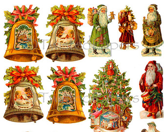 Vintage German Santa Clipart - Clipart Kid