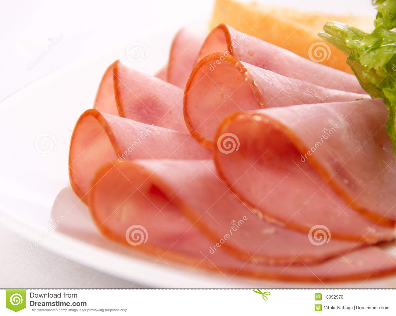 Sliced Ham Clipart Sliced Ham On The Plate Macro