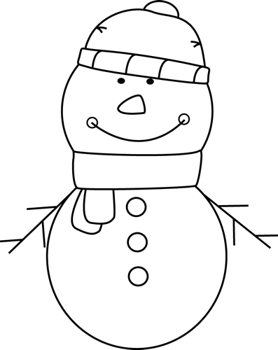 Snowman Clipart Black And White Picturesnowman Clipart Black And White