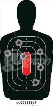 Target With Bullet Holes  Stock Clipart Illustration Gg63981864
