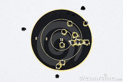 Target With Bullet Holes Stock Images   Image  2980284