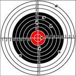 Target With Holes Pierced By Bullets Vector Shooting Target With Holes