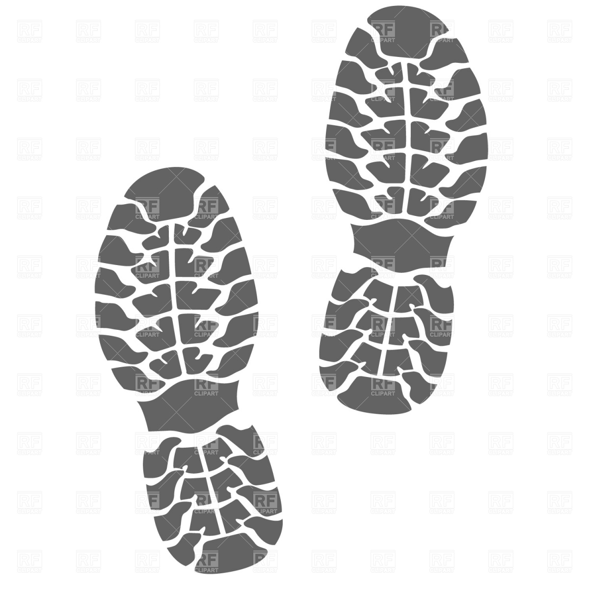 Running Shoe Print Clipart - Clipart Kid