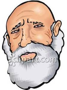Beard Clipart Sad Old Man With A Beard Royalty Free Clipart Picture