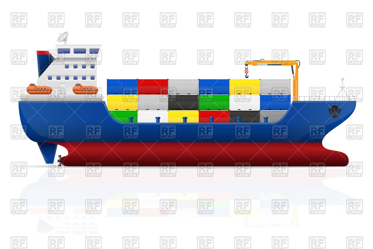 Cargo Ship Side View 91437 Download Royalty Free Vector Clipart  Eps