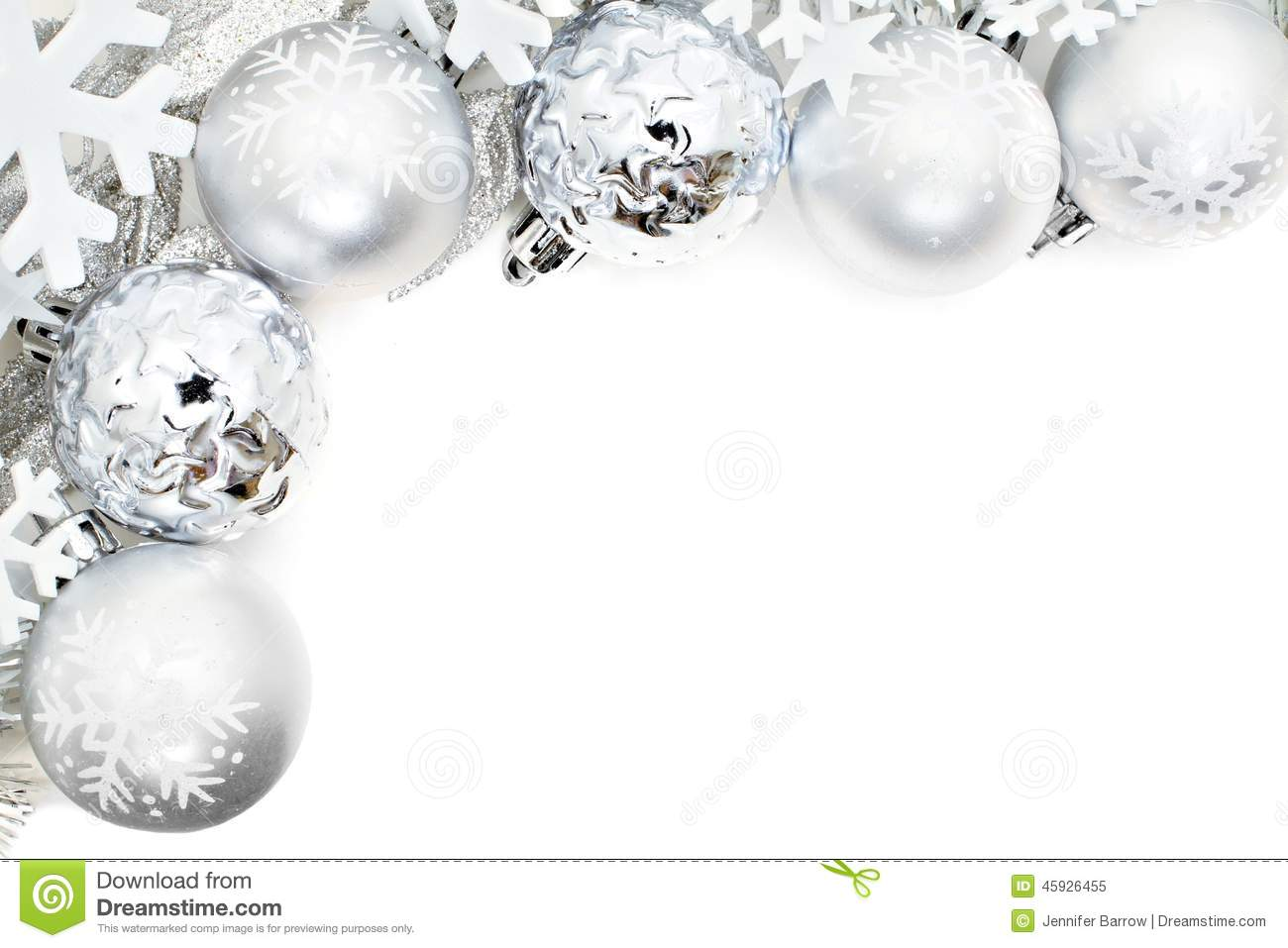 Silver christmas borders clipart suggest