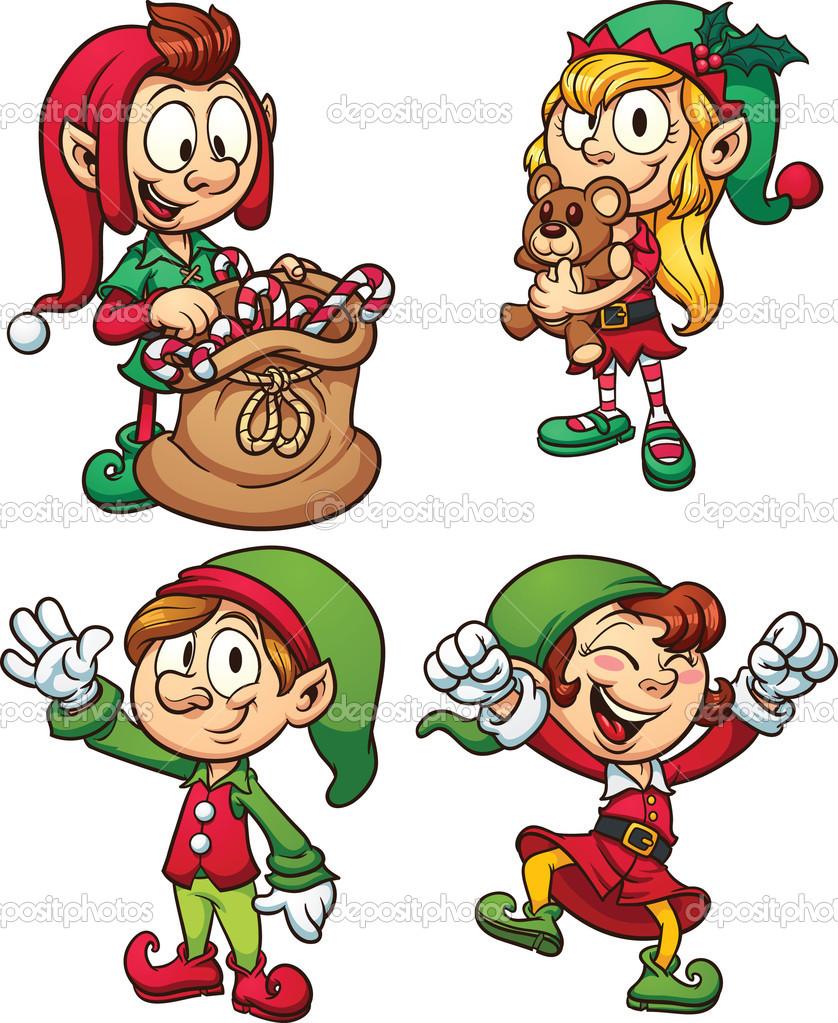 Christmas Elves   Stock Vector   Memoangeles  15628615