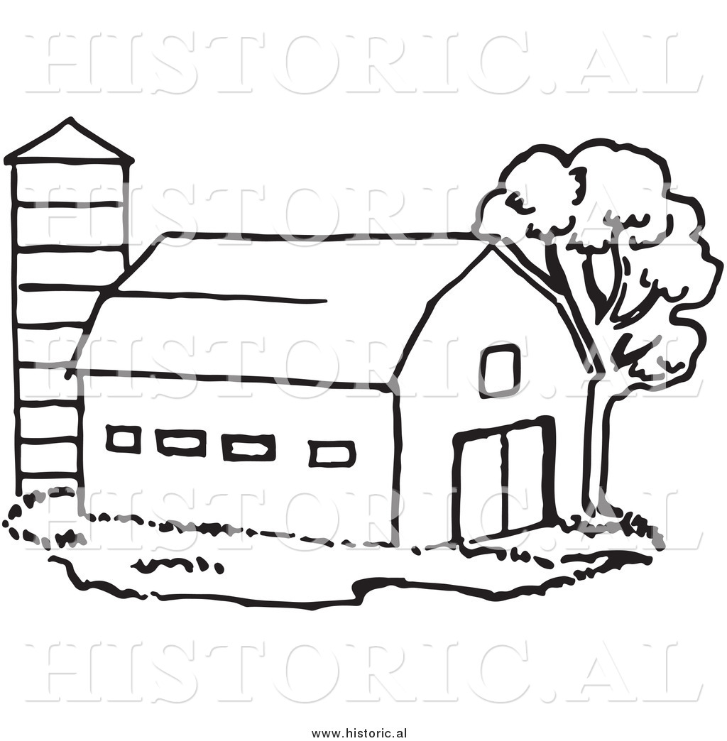 Farm Black And White Clipart - Clipart Suggest