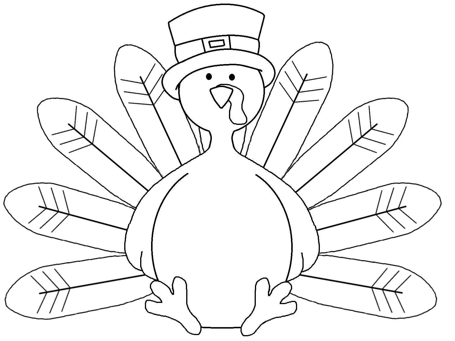 Turkey template clipart clipart suggest for Turkey color pages
